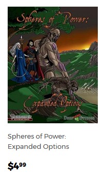 Spheres of Power: Expanded Options